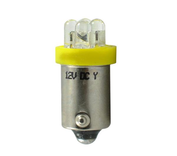LED   Diode L013   Ba9s 4LED 3mm, Gelb